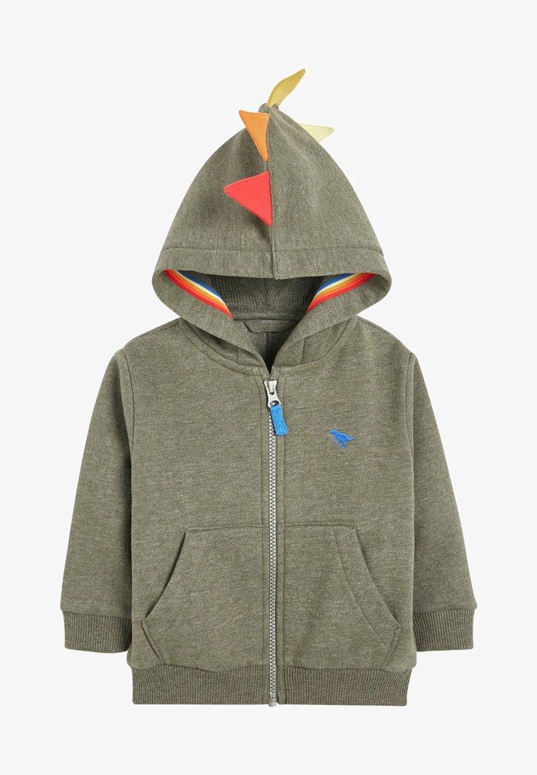 Next - RAINBOW DINO SPIKE - Zip-up hoodie - green
