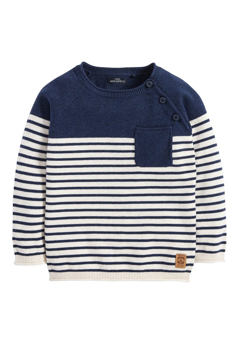 Next - NAVY/ECRU STRIPE JUMPER (3MTHS-7YRS) - Trui - blue