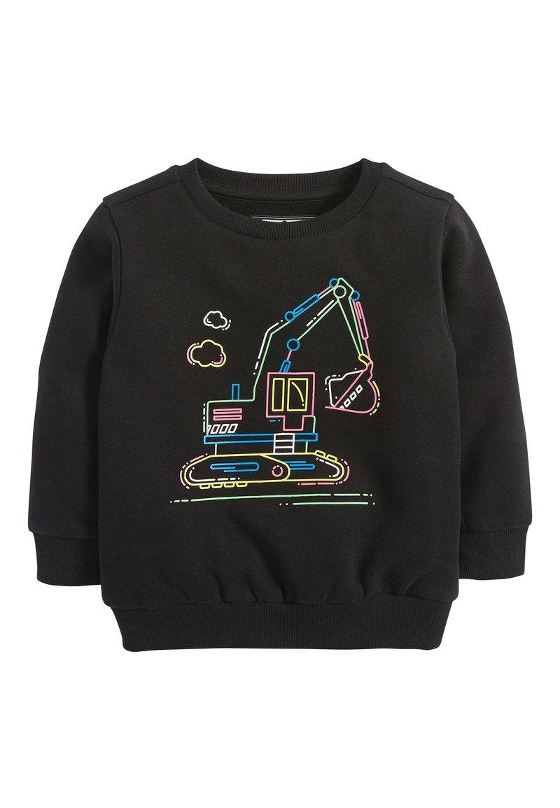 Next - BLACK FLURO DIGGER CREW TOP (3MTHS-7YRS) - Sweater - black