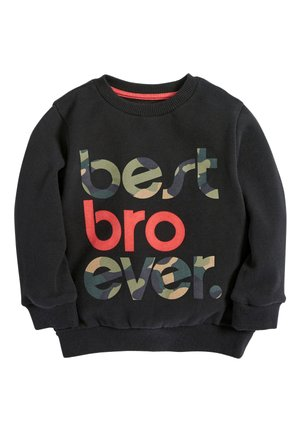 BLACK BEST BRO EVER CREW TOP (3MTHS-7YRS) - Trui - black