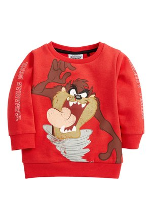 RED TAZ THE TASMANIAN DEVIL CREW TOP (3MTHS-8YRS) - Maglione - red