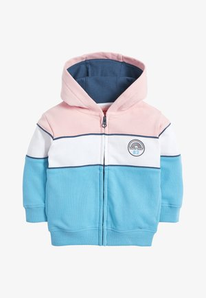 COLOURBLOCK ZIP THROUGH - Mikina na zip - blue