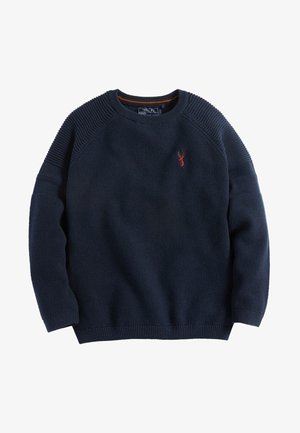 TEXTURED - Jumper - navy