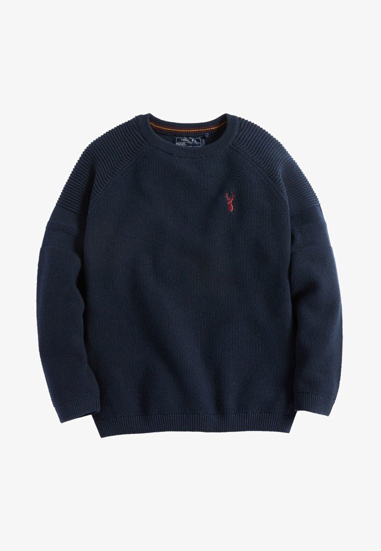Next - TEXTURED - Pullover - navy