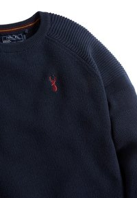 Next - TEXTURED - Pullover - navy - 2
