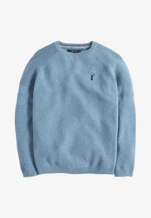 TEXTURED - Trui - mottled blue