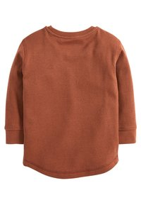 Next - BLACK LONG SLEEVE TEXTURED T-SHIRT (3MTHS-7YRS) - Trui - orange
