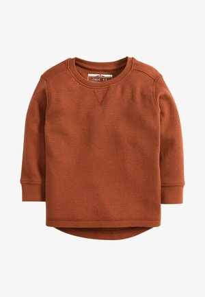 BLACK LONG SLEEVE TEXTURED T-SHIRT (3MTHS-7YRS) - Trui - orange