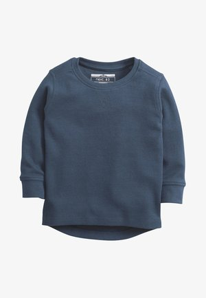 BLACK LONG SLEEVE TEXTURED T-SHIRT (3MTHS-7YRS) - Trui - blue