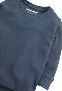 Next - BLACK LONG SLEEVE TEXTURED T-SHIRT (3MTHS-7YRS) - Trui - blue - 2