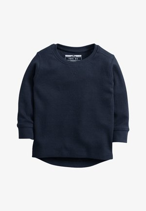 BLACK LONG SLEEVE TEXTURED T-SHIRT (3MTHS-7YRS) - Jumper - dark blue