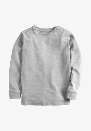 GREEN LONG SLEEVE COSY T-SHIRT (3-16YRS) - Longsleeve - gray