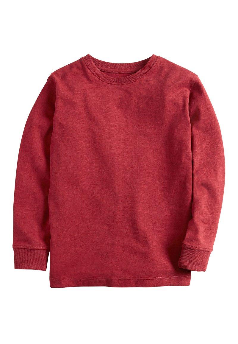 Next - GREEN LONG SLEEVE COSY T-SHIRT (3-16YRS) - Longsleeve - mottled red