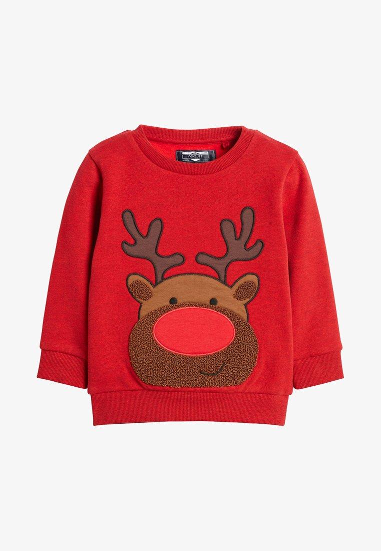 Next - RUDOLPH CREW NECK - Sweatshirt - red