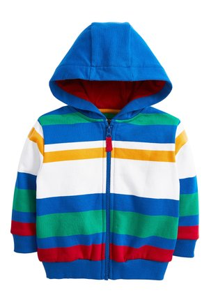 MULTICOLOURED STRIPE ZIP THROUGH TOP (3MTHS-7YRS) - veste en sweat zippée - blue