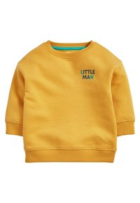 Next - YELLOW LITTLE MAN CREW NECK SWEATER (3MTHS-7YRS) - Sweater - yellow - 0