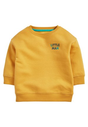 YELLOW LITTLE MAN CREW NECK SWEATER (3MTHS-7YRS) - Sweater - yellow