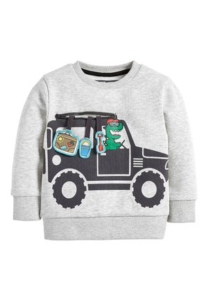 GREY MARL INTERACTIVE CAR CREW TOP (3MTHS-7YRS) - Felpa - grey