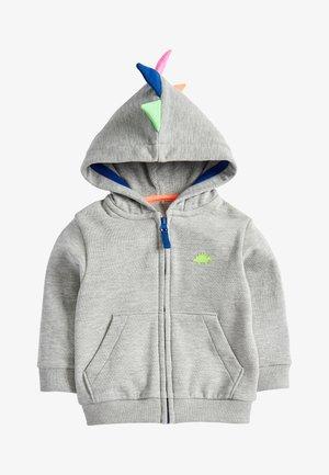 GREY MARL DINO SPIKE ZIP THROUGH HOODY (3MTHS-7YRS) - Zip-up hoodie - grey