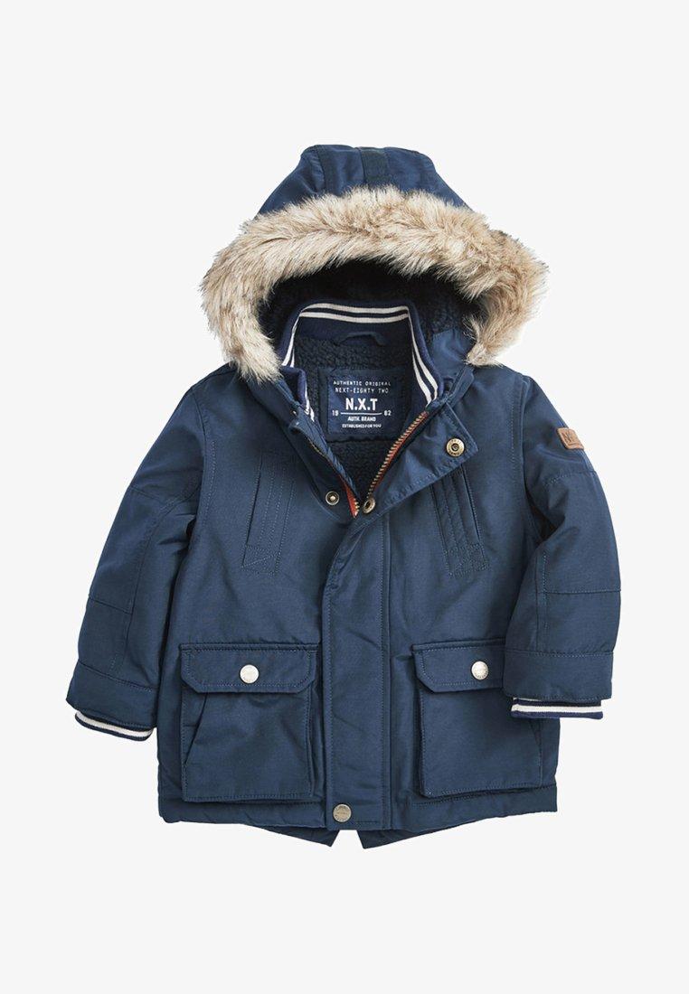 Next - Winter coat - mottled blue