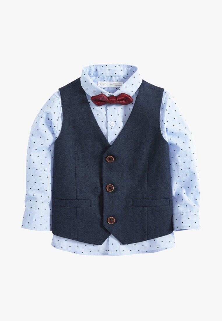 Next - set - Gilet de costume - blue