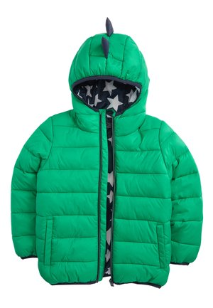 YELLOW COLOURBLOCK PADDED JACKET (3MTHS-7YRS) - Winterjas - green