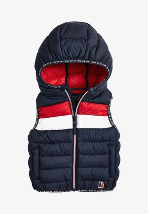 NAVY COLOURBLOCK GILET (3MTHS-7YRS) - Bodywarmer - blue
