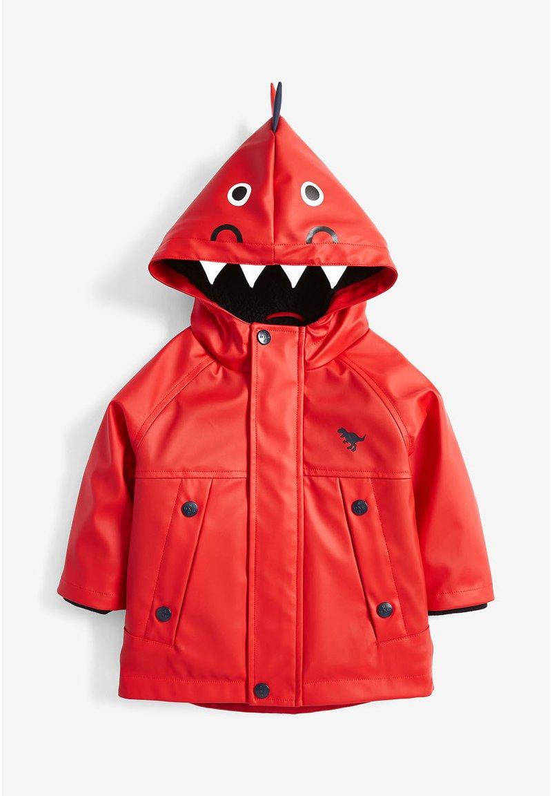 Next - RED DINOSAUR ANORAK (3MTHS-7YRS) - Waterproof jacket - red