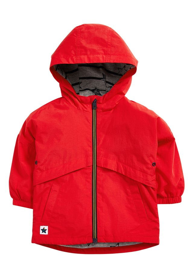 RED SHOWER RESISTANT ANORAK (3MTHS-7YRS) - Waterproof jacket - red