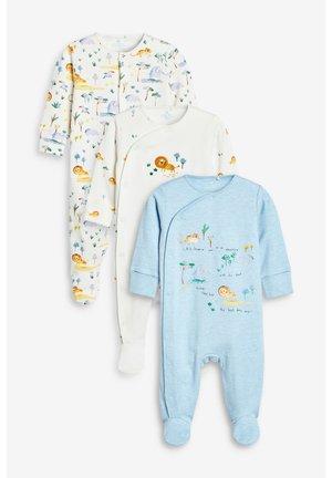 BLUE/WHITE 3 PACK LION SAFARI SLEEPSUITS (0MTHS-2YRS) - Pyjama - blue