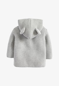 Next - GREY KNITTED BEAR CARDIGAN (0MTHS-3YRS) - Kardigan - grey - 1