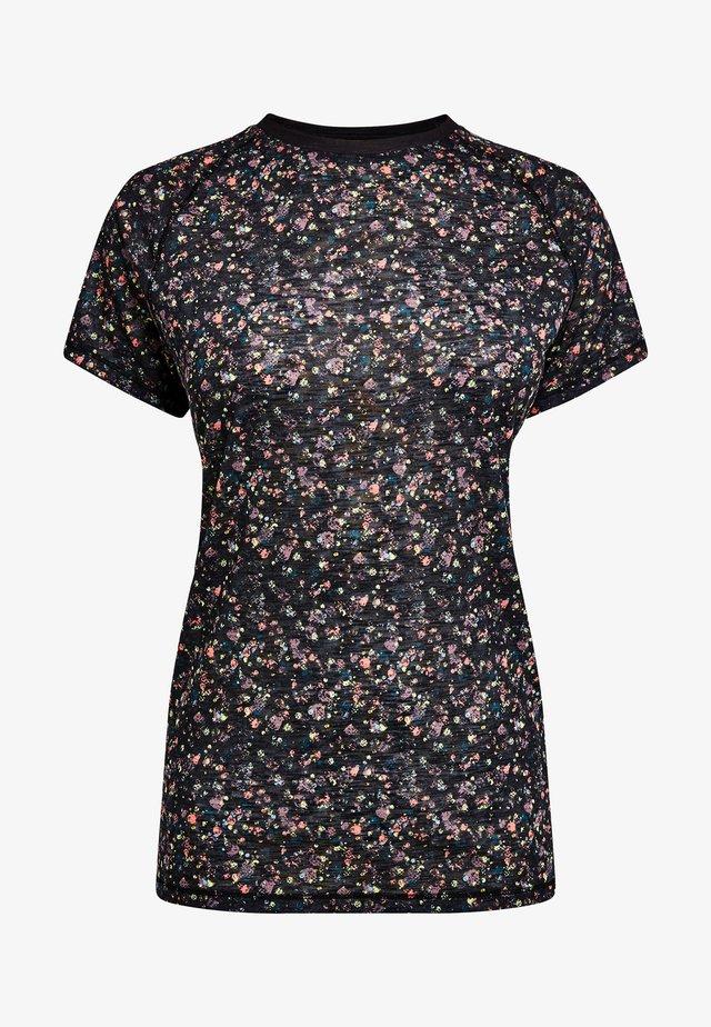 SHORT SLEEVE - Basic T-shirt - mottled black