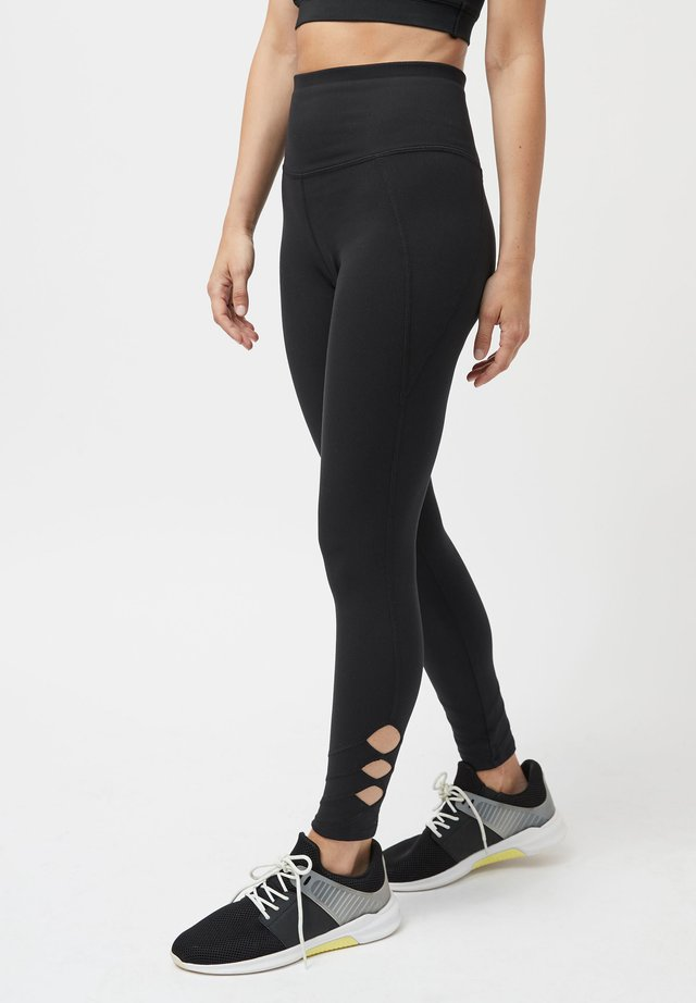 BLACK LATTICE LEGGINGS - Leggings - black