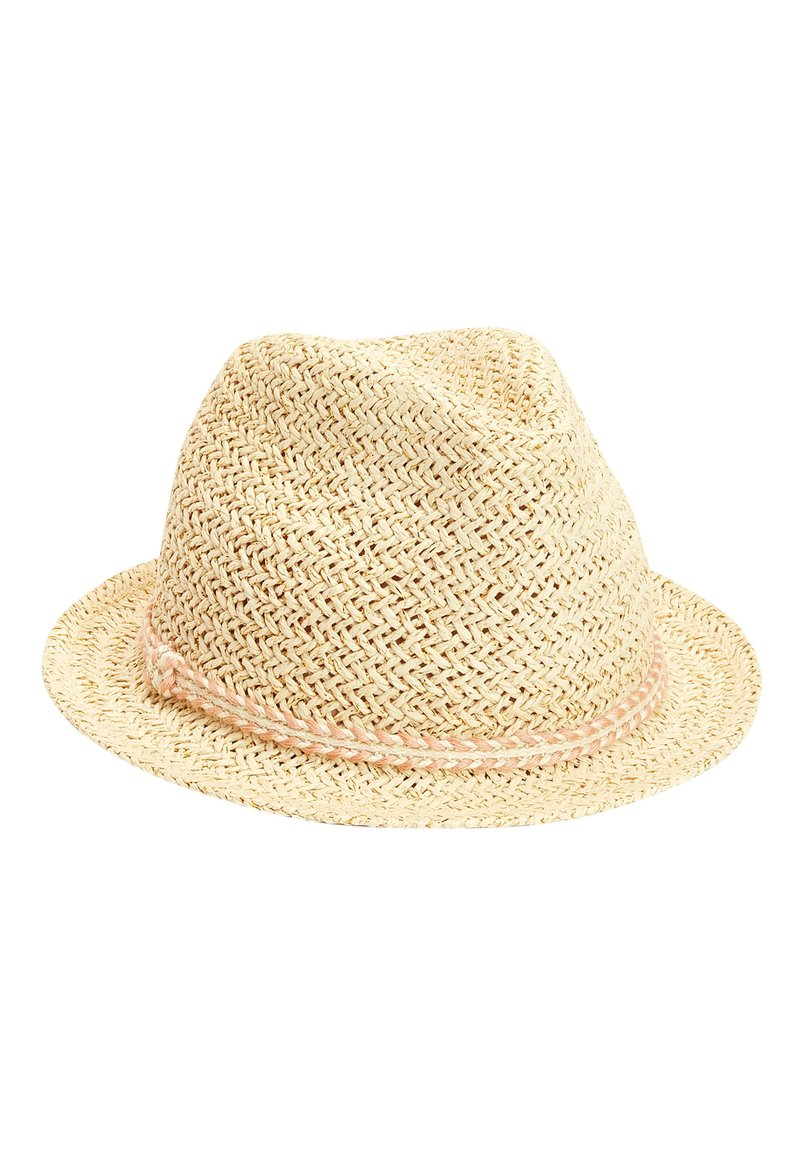 Next - PINK TRIM STRAW TRILBY (YOUNGER) - Hat - beige
