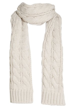 BLACK CABLE SCARF - Scarf - off-white