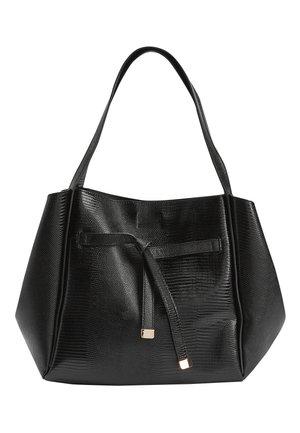 LIGHT GREY KNOT DETAIL SHOPPER BAG - Shopping Bag - black