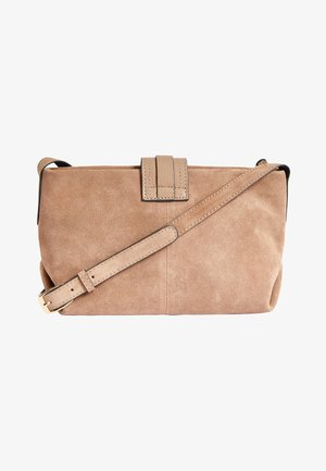 MINK LEATHER AND SUEDE ACROSS-BODY BAG - Umhängetasche - beige