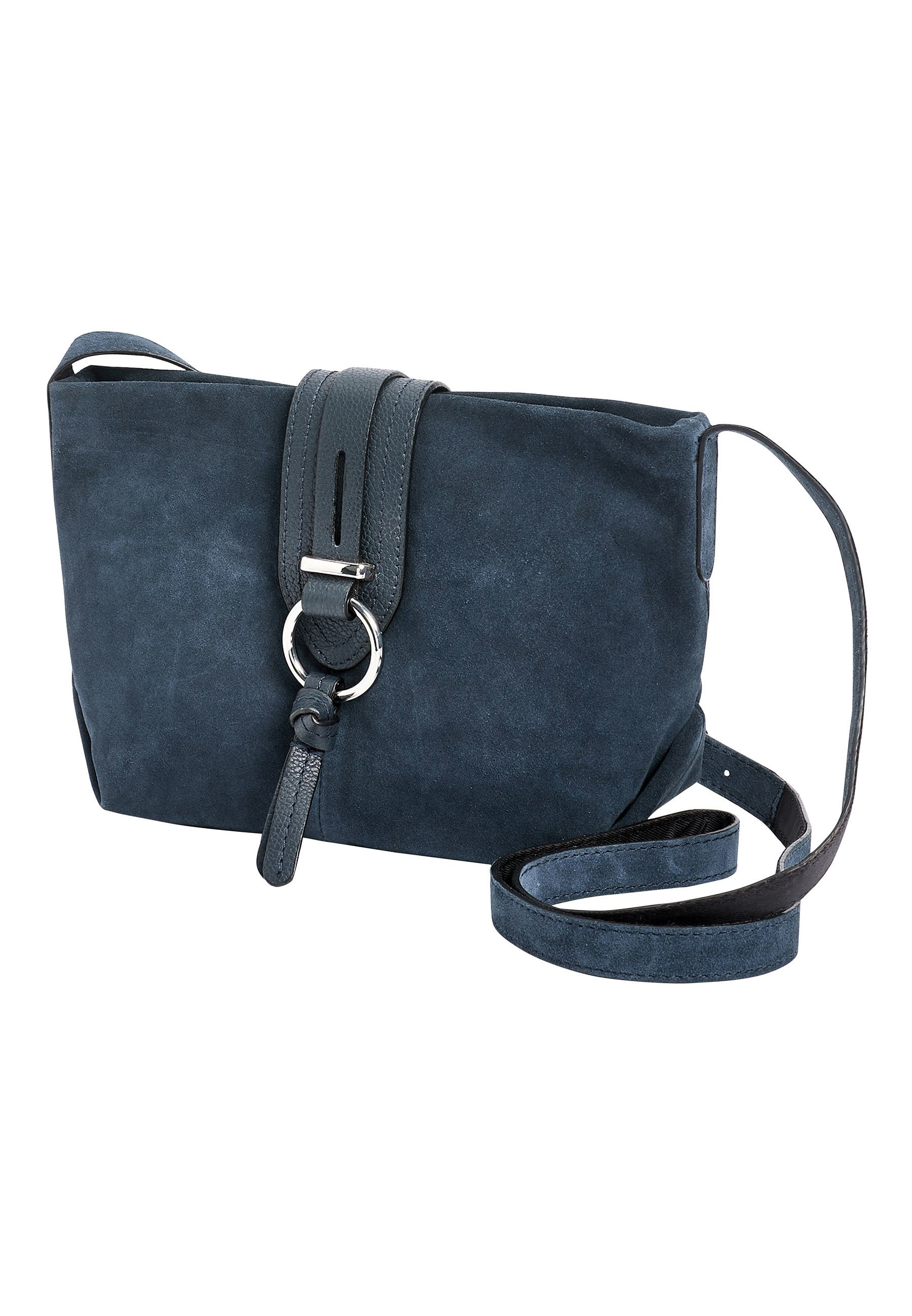 Next MINK LEATHER AND SUEDE ACROSS-BODY BAG - Borsa a tracolla - blue