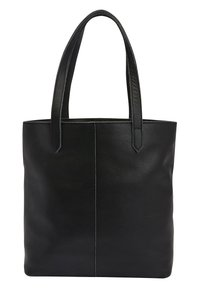 Next - BLACK LEATHER FRONT POCKET SHOPPER BAG - Torba na zakupy - black - 0
