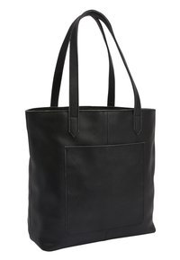 Next - BLACK LEATHER FRONT POCKET SHOPPER BAG - Torba na zakupy - black - 2