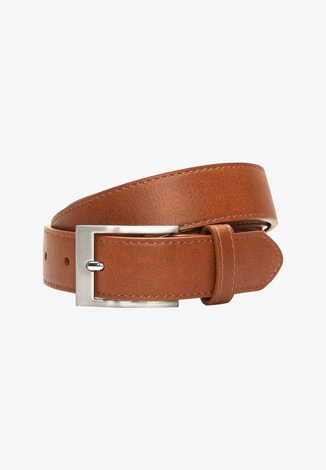 BLACK STITCHED EDGE BELT - Belt - brown