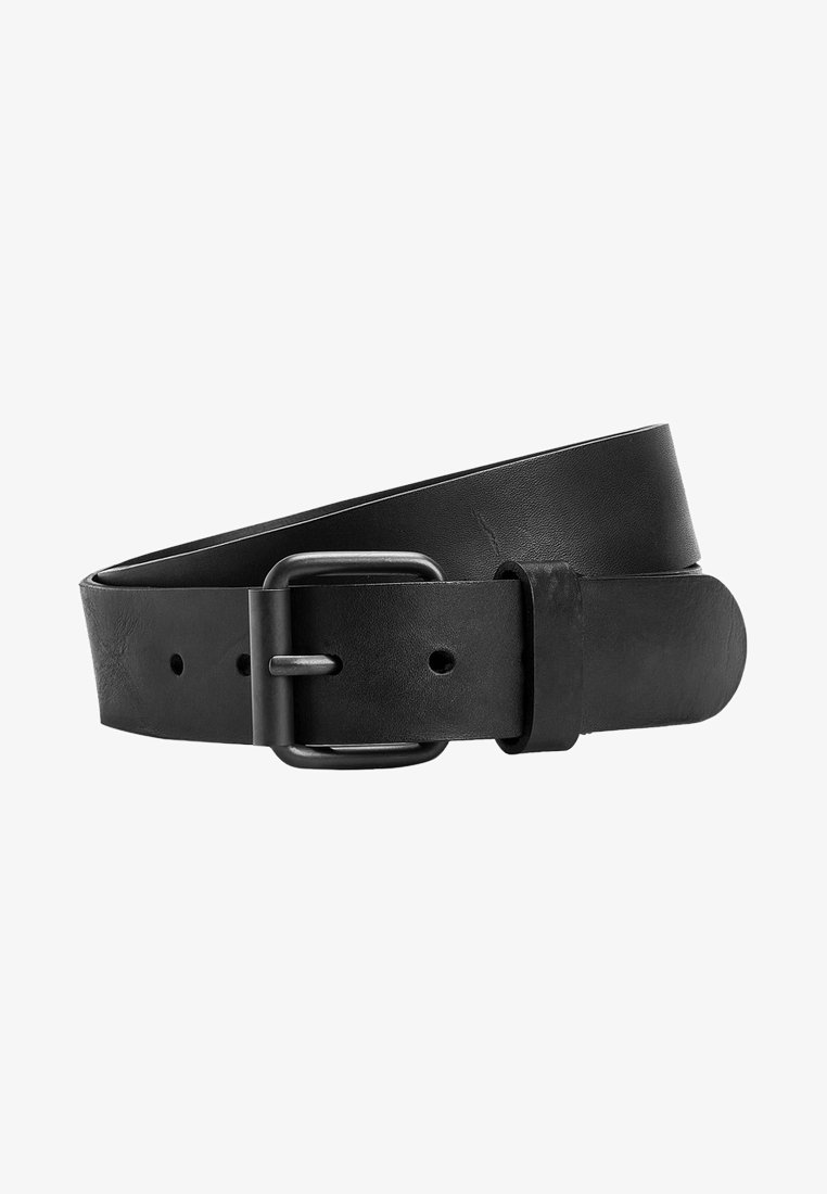 Next - BLACK SIGNATURE ITALIAN LEATHER BELT - Pasek - black