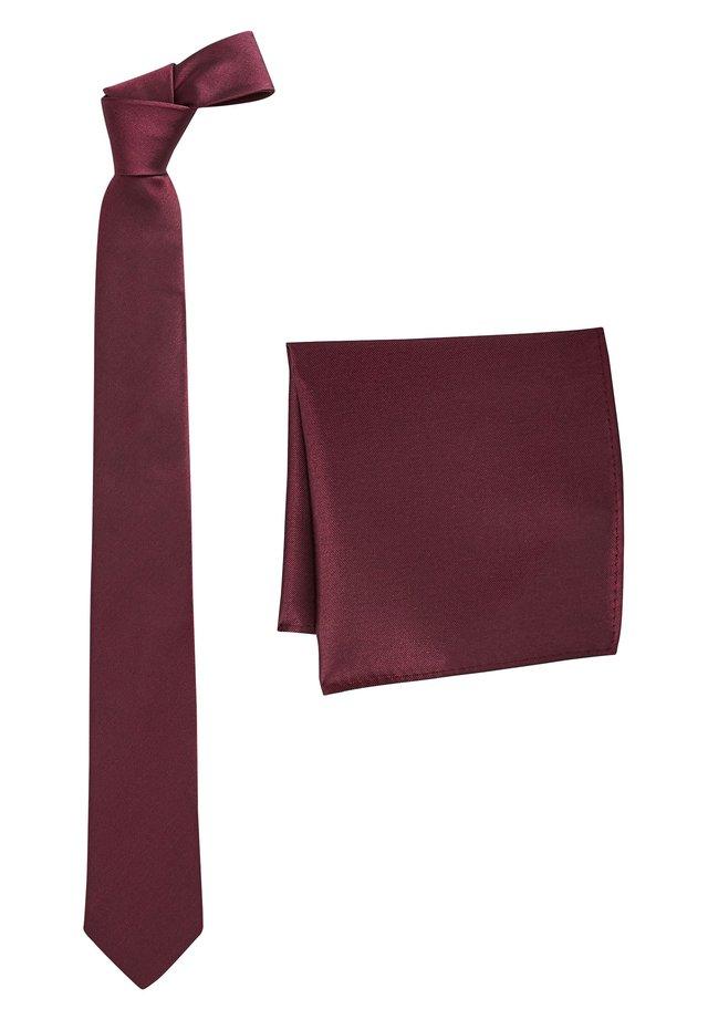 SET - Pocket square - red