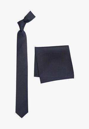 SET - Pocket square - mottled blue