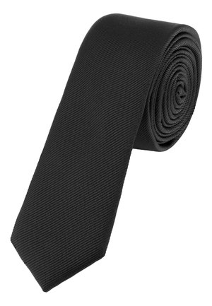BLACK SLIM TWILL TIE - Tie - black