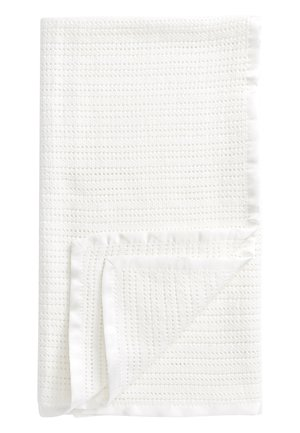 WHITE CELLULAR KNITTED BLANKET (NEWBORN) - Play mat - white