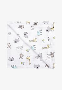 Next - PRINT 2 PACK ANIMAL AND STAR MUSLIN SQUARES - Tapis d'éveil - white - 1