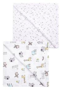 Next - PRINT 2 PACK ANIMAL AND STAR MUSLIN SQUARES - Tapis d'éveil - white - 0