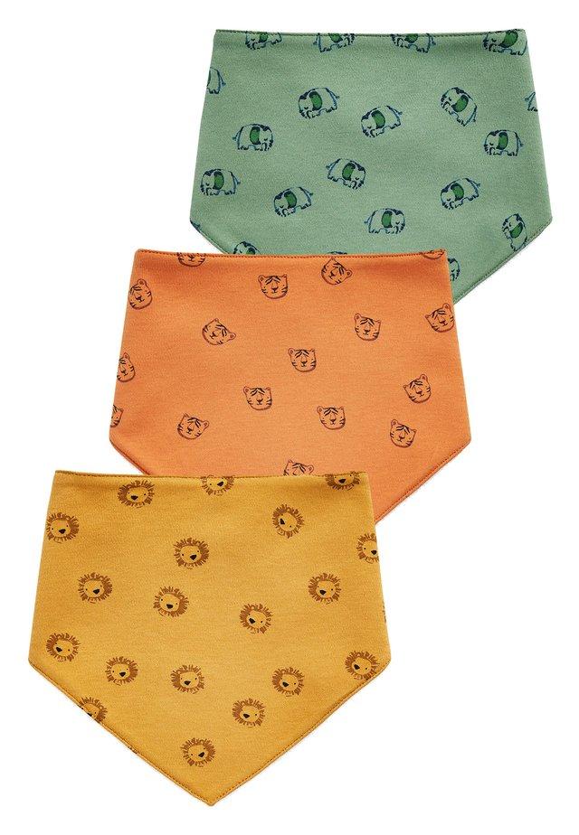 OCHRE 3 PACK CHARACTER BIBS - Ruokalappu - orange