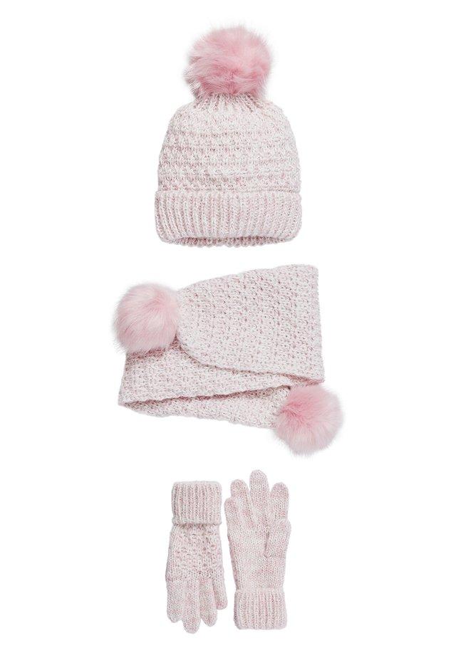 GREY 3 PACK HAT, SCARF & GLOVES (OLDER) - Scarf - pink